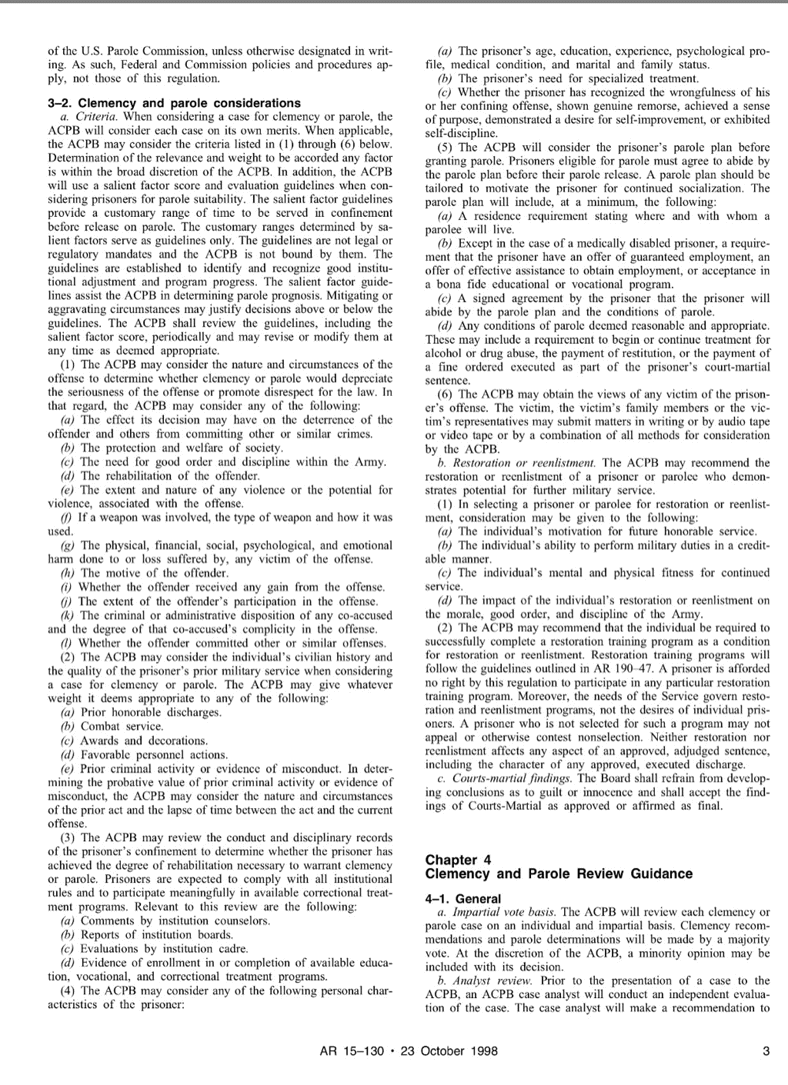 Army Regulation the Boards article